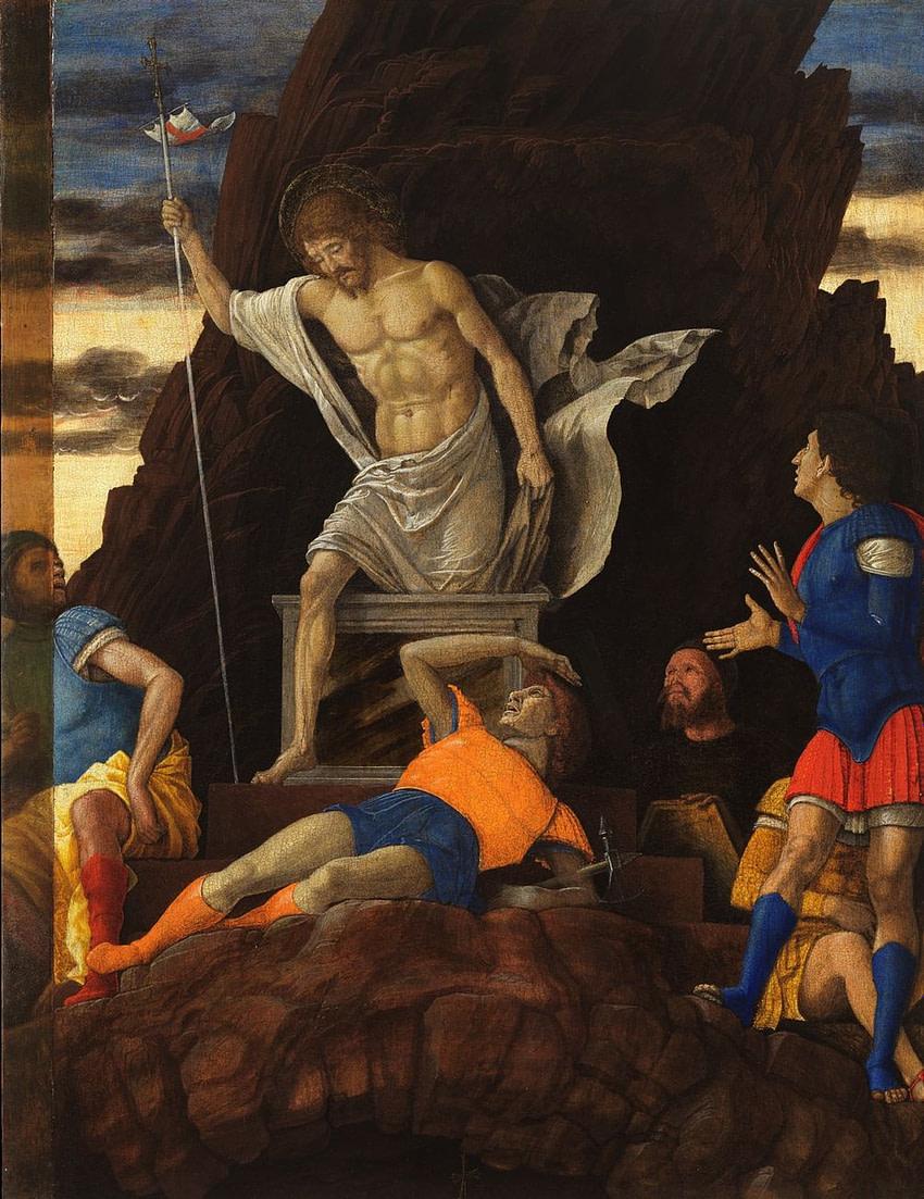 Andrea Mantegna - Resurrezione di Cristo 1492 ca. - Accademia Carrara Bergamo