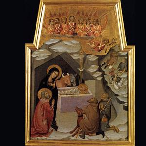 Bartolo di Fredi Adorazione dei Pastori (1383-1388) particolare Pinacoteca Vaticana
